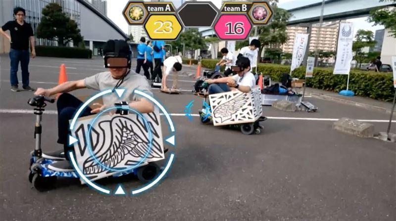 VR上で波動を飛ばせる「HADO」とカートを組み合わせた競技